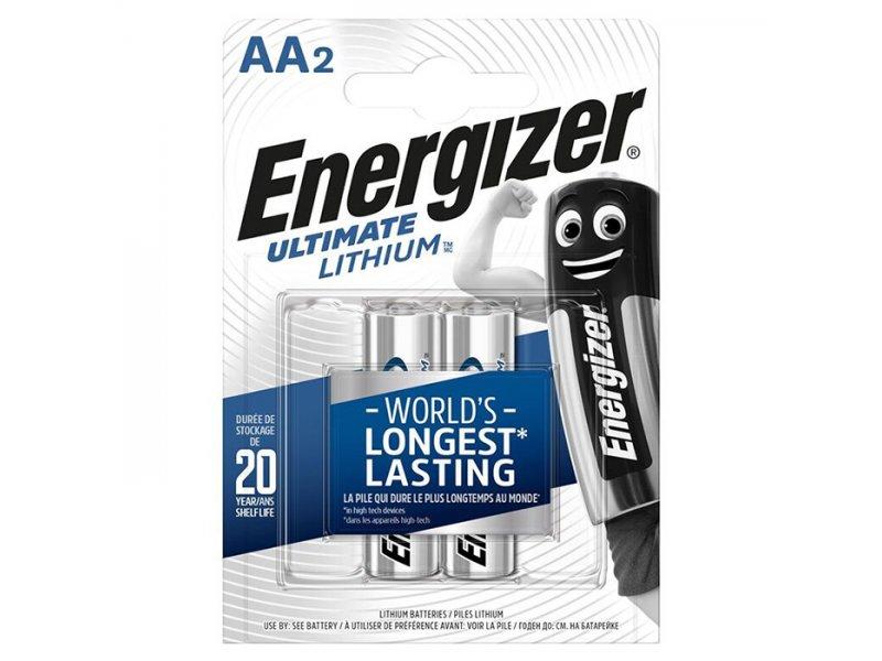Μπαταρίες Λιθίου Energizer AA Σε Blister 2 Τεμαχίων