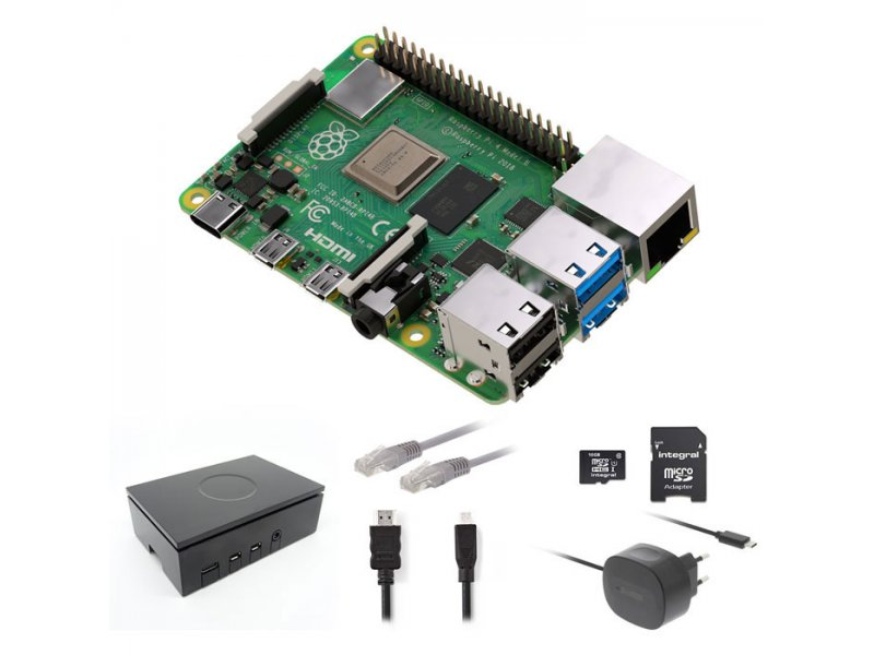RASPBERRY RP4KIT 2GB Raspberry Pi 4 2 GB Starter Kit + NOOBS Software Tool