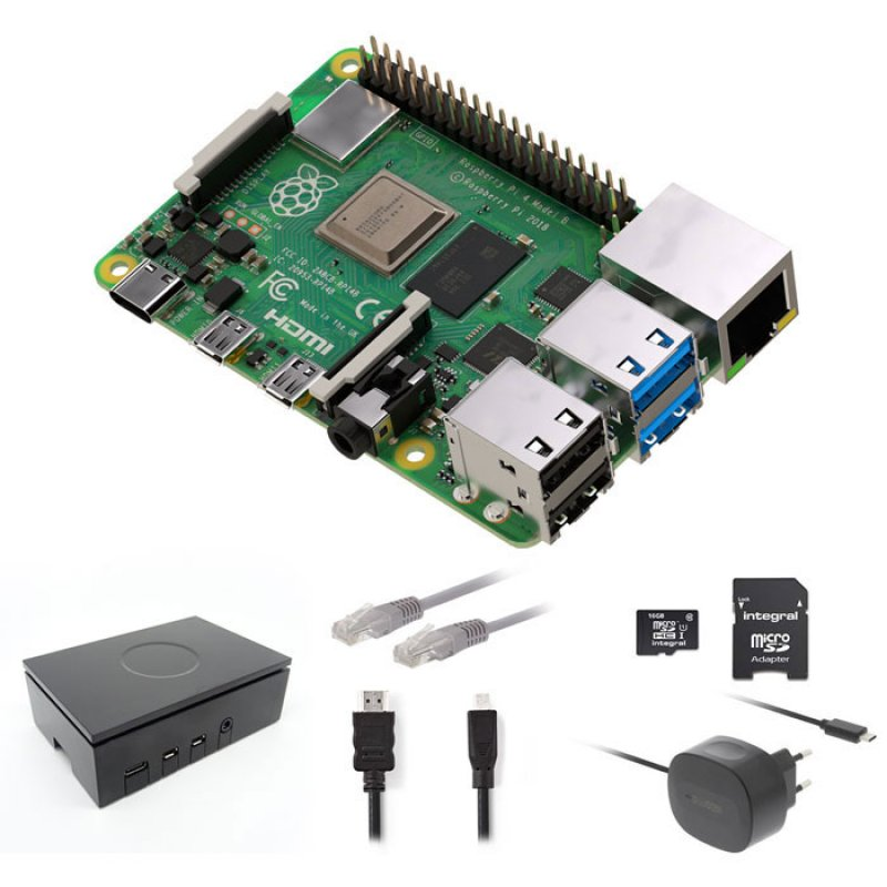 RASPBERRY RP4KIT 2GB Raspberry Pi 4 2 GB Starter Kit + NOOBS Software Tool