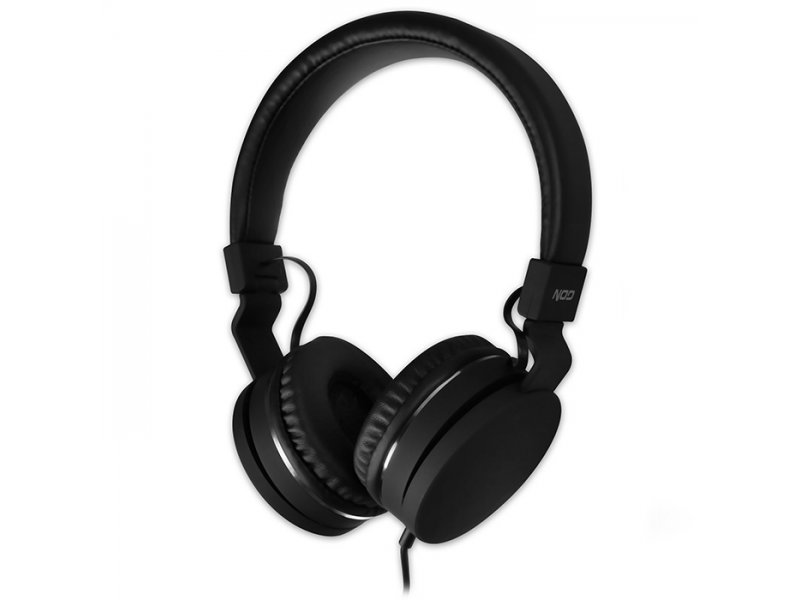 Nod Live Ενσύρματα On-Ear Ακουστικά Με Μικρόφωνο, Σε Μαύρο Χρώμα