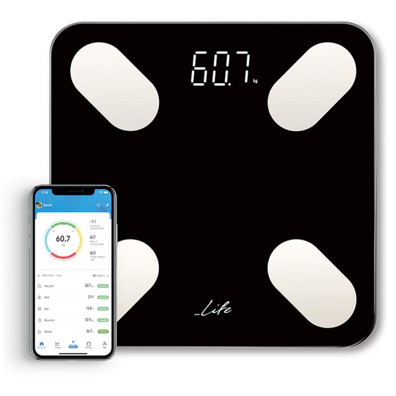 221-0219 Life Petite Bluetooth Ηλεκτρονική Ζυγαριά Μπάνιου Με 12 Μετρήσεις