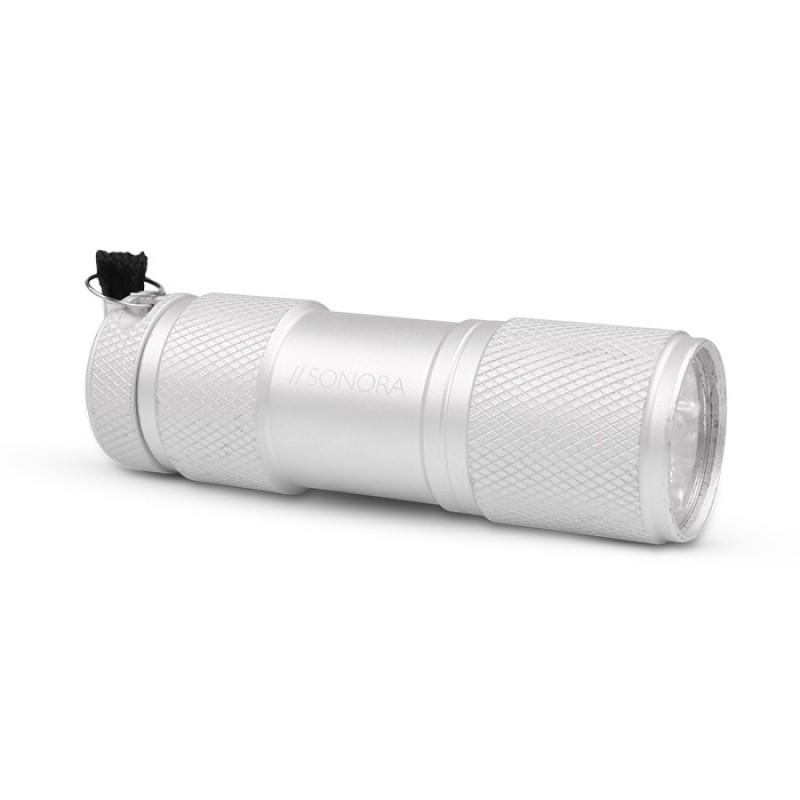 Sonora Silver Vertex  Αλουμινένιος mini Φακός LED 30 lm Σε Ασημί Χρώμα.