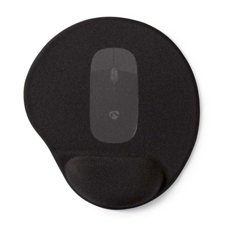 Mousepad με μαξιλαράκι gel για την στήριξη του καρπού NEDIS MPADFG100BK