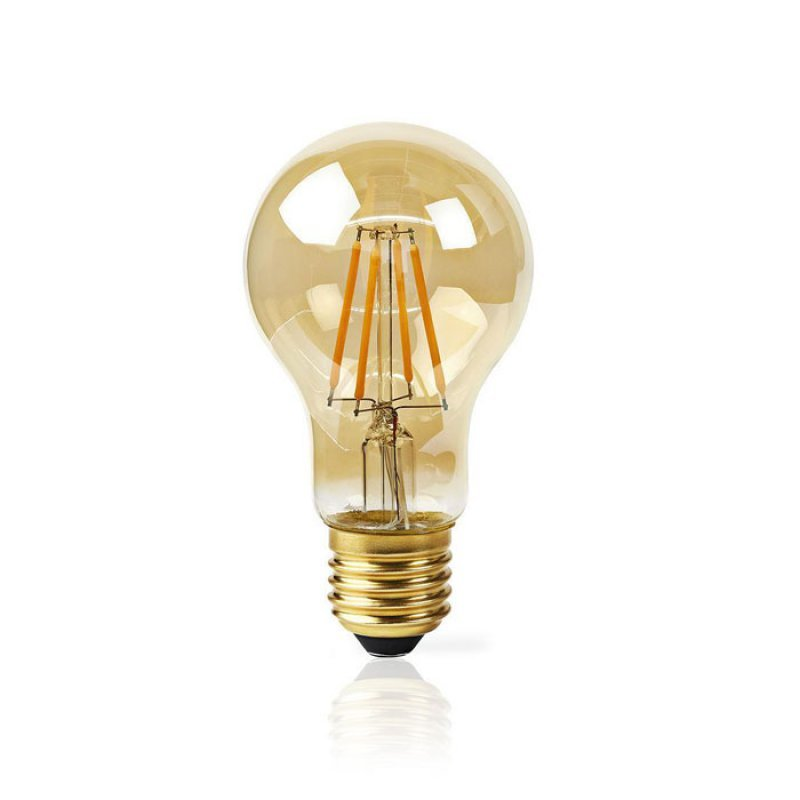 Nedis WIFILF10GDA60 Wi-Fi Έξυπνη λάμπα Filament Retro LED,E27,A60,5W,500Lm