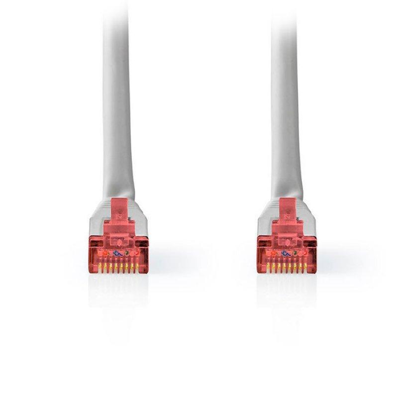 NEDIS CCGT85221GY100 Καλώδιο Δικτύου CAT6 S/FTP RJ45 Male RJ45 Male 10.0 m Grey