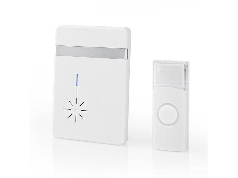 Ασύρματο φορητό κουδούνι μπαταρίας με LED ένδειξη NEDIS DOORB212WT