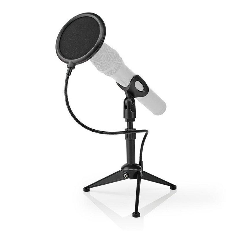 Nedis MPST01BK Επιτραπέζιος Τρίποδας Μικροφώνου Με Ρυθμιζόμενο Ύψος