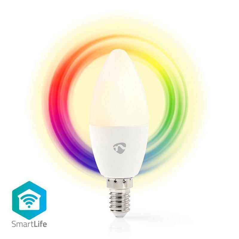 Nedis WIFILC11WTE14 Wi-Fi Έξυπνη Λάμπα RGB Led, E14, 4.5W, 350Lm