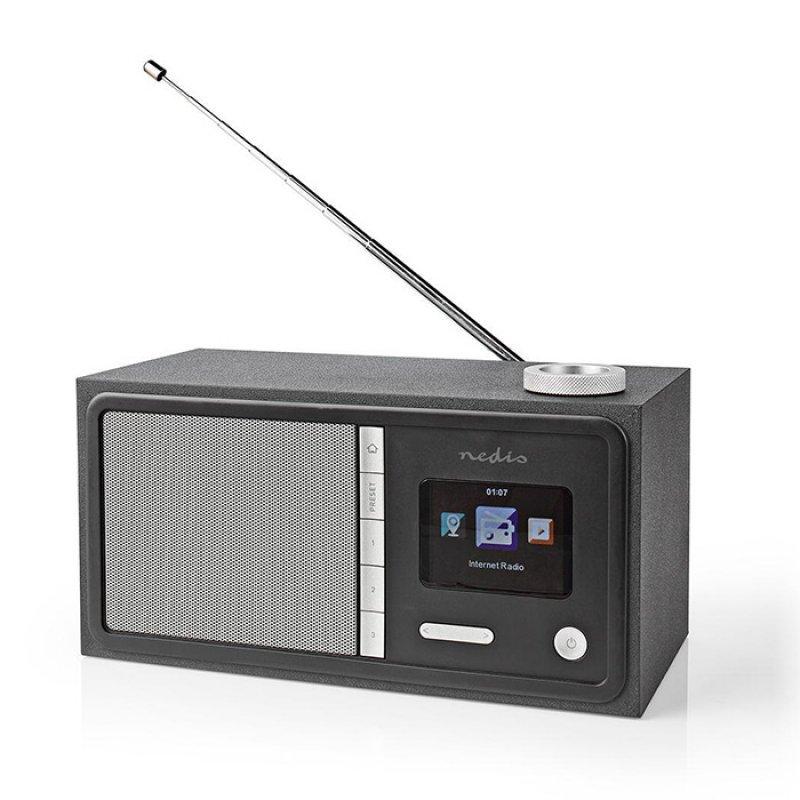 Nedis RDIN3000BK Internet Και Fm Ραδιόφωνο Με Λειτουργία Bluetooth 18W