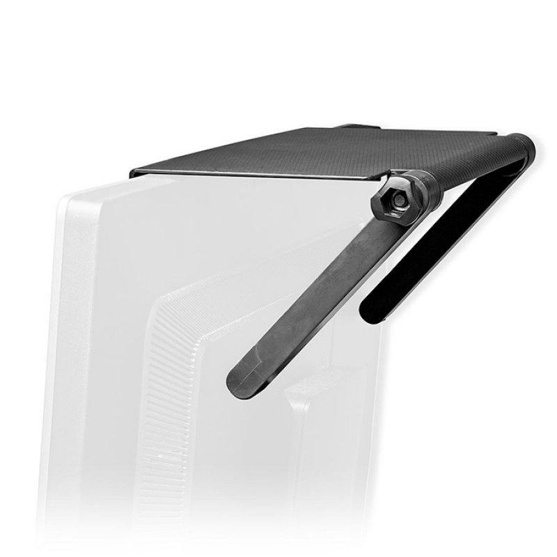 Nedis ERGOSTS100BK Πολυλειτουργικό Ράφι Οθόνης Υπολογιστή / Τηλεόρασης, Σε Μαύρο Χρώμα