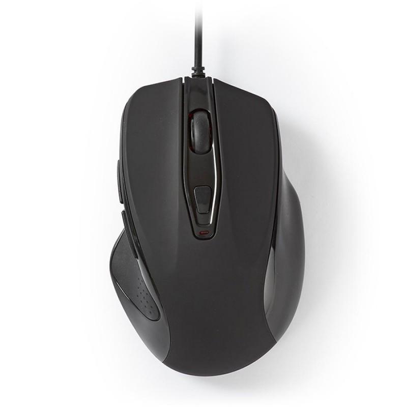 Nedis MSWD400BK Ενσύρματο Ποντίκι Με Ανάλυση Έως Και 3200dpi, Σε Μαύρο Χρώμα.