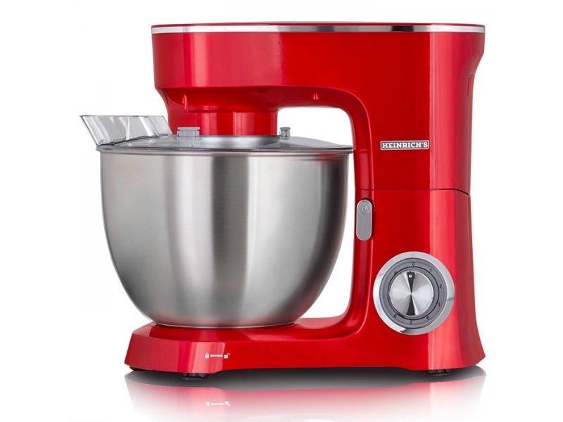 KM 8078 Heinrich's Κουζινομηχανή Με Κάδο Μίξης 8L Σε Kόκκινο Χρώμα 1400W