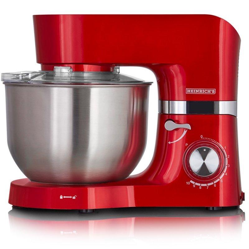 KM 6278 Heinrich's Κουζινομηχανή Με Κάδο Μίξης 6.5L, Σε Κόκκινο Χρώμα 1300W