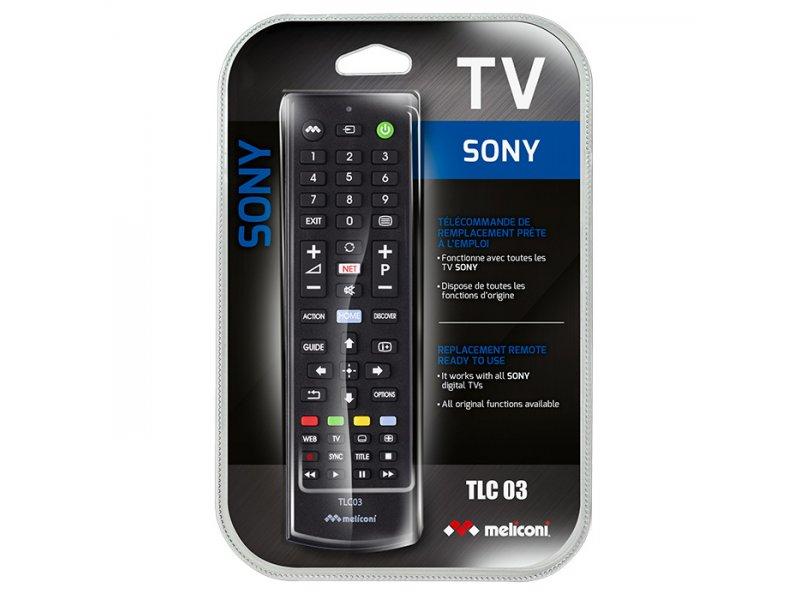 Meliconi TLC03 Τηλεχειριστήριο Αντικατάστασης Για τηλεοράσεις Sony