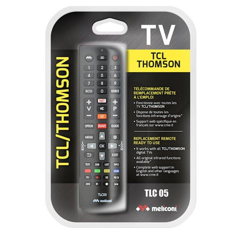 Meliconi TLC05 Τηλεχειριστήριο Αντικατάστασης Για τηλεοράσεις Tcl/Thomson