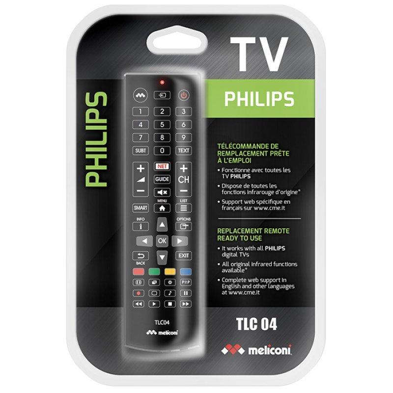 Meliconi TLC04 Τηλεχειριστήριο Αντικατάστασης Για Τηλεοράσεις Philips