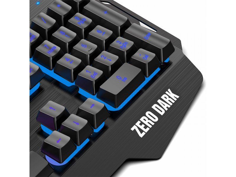 NOD ZERO DARK Ενσύρματο Gaming Πληκτρολόγιο Με RGB LED Οπίσθιο Φωτισμό Και Βάση Στήριξης Για Το Κινητό