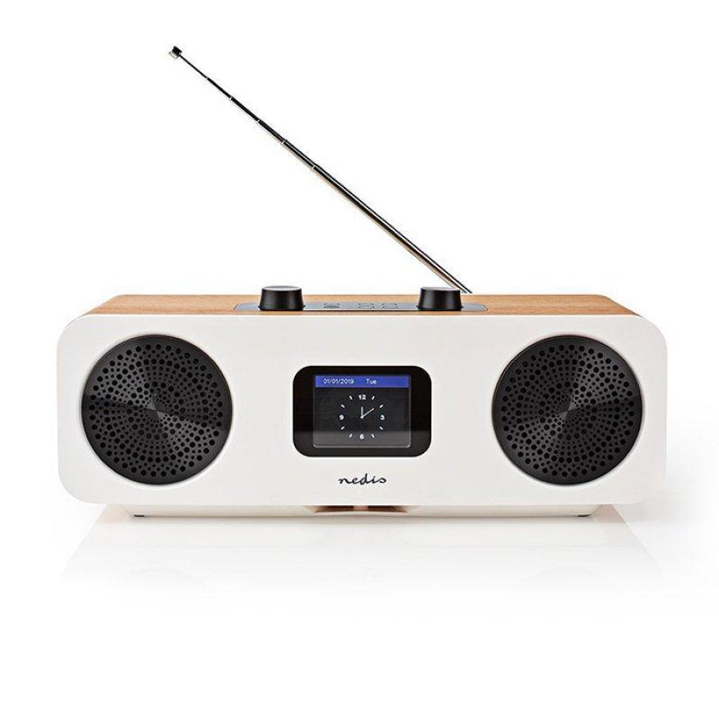 NEDIS RDIN2500WT Internet, DAB+ και FM Ραδιόφωνο Με Λειτουργία Bluetooth, Ξύλινο 34W.