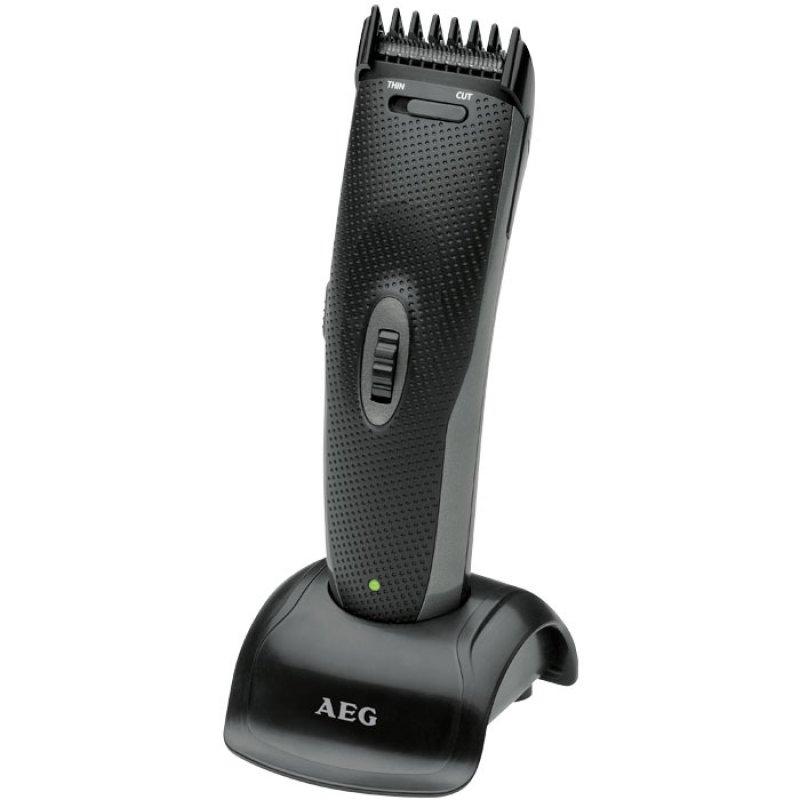 AEG Κουρευτική- Ξυριστική μηχανή για μαλλιά και γένια, με επαναφορτιζόμενη μπαταρία.