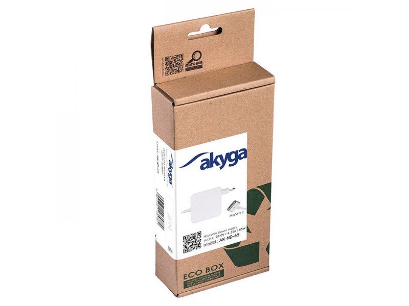 Akyga AK-ND-65 Τροφοδοτικό Για Laptop Apple 20.0V/4.25A,85W,Με Βύσμα Magsafe 2