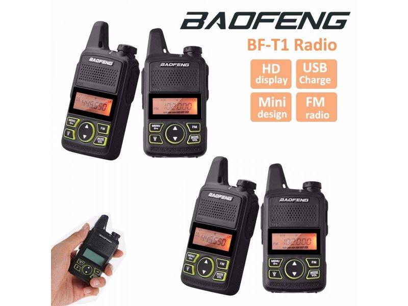 4 Τεμάχια Baofeng T1 μίνι Φορητοί επαγγελματικοί ασύρματοι για επαγγελματική η ερασιτεχνική χρήση