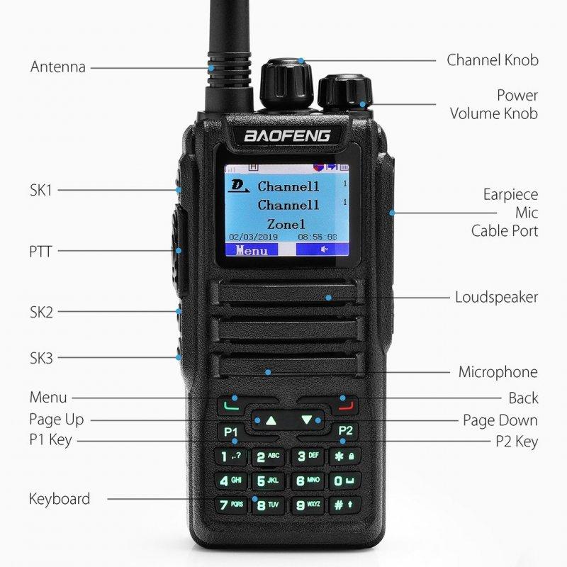 Baofeng DM-1701 DMR / Dual Band / 5 Watt / 120,000 Επαφές / Λειτουργία SMS