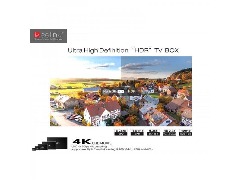 Tv Box Beelink GT1 Ultimate Οκταπύρηνο 3GB Ram 32 GB Rom Amlogic S912 7.1.2 Android Bluetooth