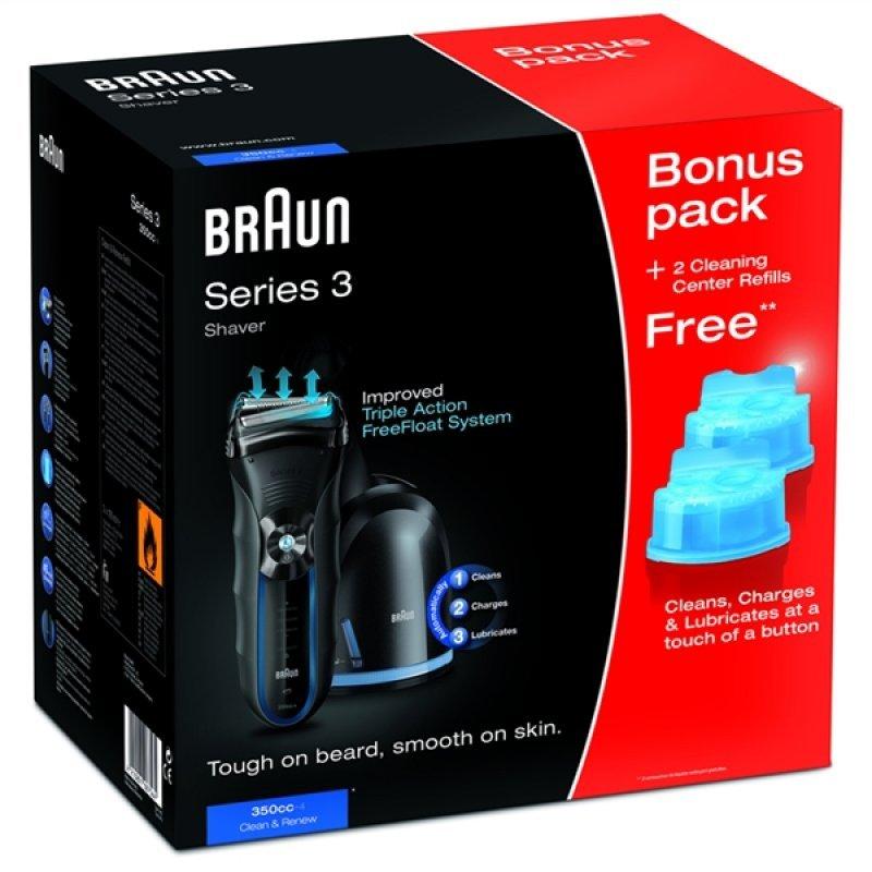 Ξυριστική μηχανή επαναφορτιζόμενη Braun series 3 350cc
