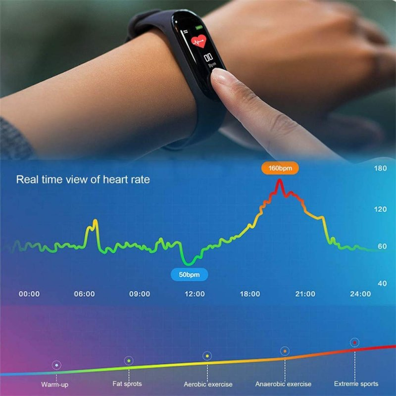 Smart Band Bracelet M3 Bluetooth ρολόι Fitness Ios/Android