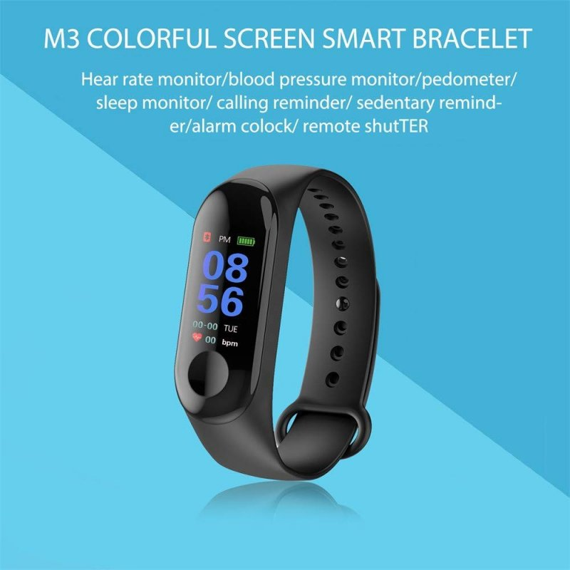 Smart Band Bracelet M3 Bluetooth ρολόι Fitness Ios/Android μαύρο