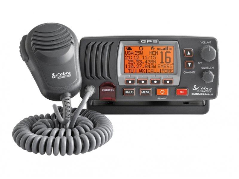 Cobra MR-F77/B GPS VHF Marine Πομποδέκτης Βάσης Αδιάβροχος Ισχύς 1 ή 25 Watts