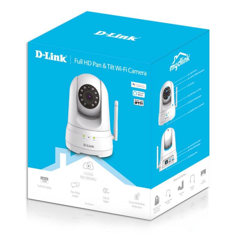 D-Link Έγχρωμη Κάμερα Wi-Fi Ημέρας/Νύχτας με ανιχνευτή κίνησης 180°