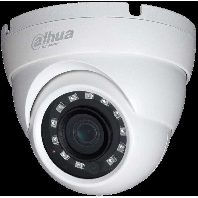 Dahua Ενσύρματη Κάμερα Dome 2MP, με φακό 3.6mm και IR 20m.