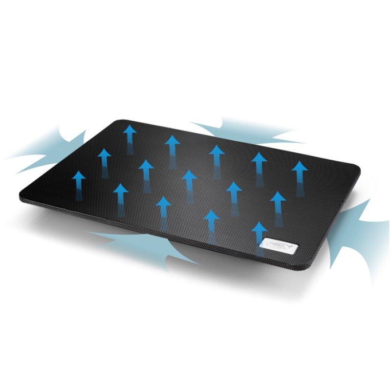 "Notebook cooler με 1 μεγάλο ανεμιστήρα N1 Black για laptop έως 15.6"""