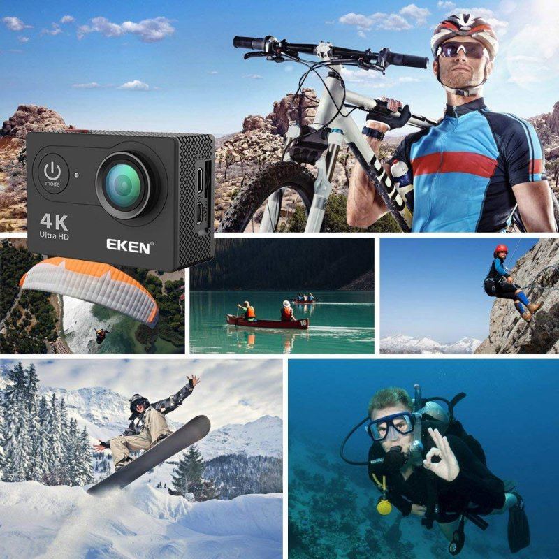 Action Camera EKEN H9R Ultra HD 4K/12MP αδιάβροχη με Wi-Fi