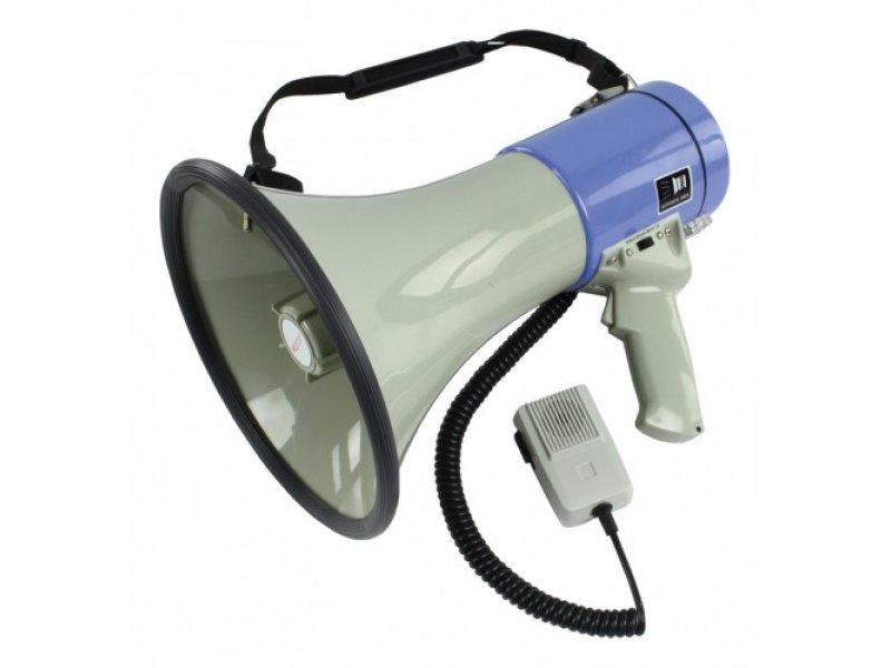 Τηλεβόας 25W διαθέτει ενσωματωμένη σειρήνα, σφυρίχτρα, αποσπώμενο μικρόφωνο και ρυθμιζομένο μικροφώνο