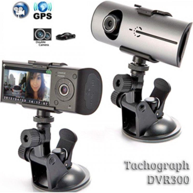Κάμερα Αυτοκινήτου πορείας με Καταγραφικό Διπλών Φακών Dual Car DVR με GPS & G Sensor