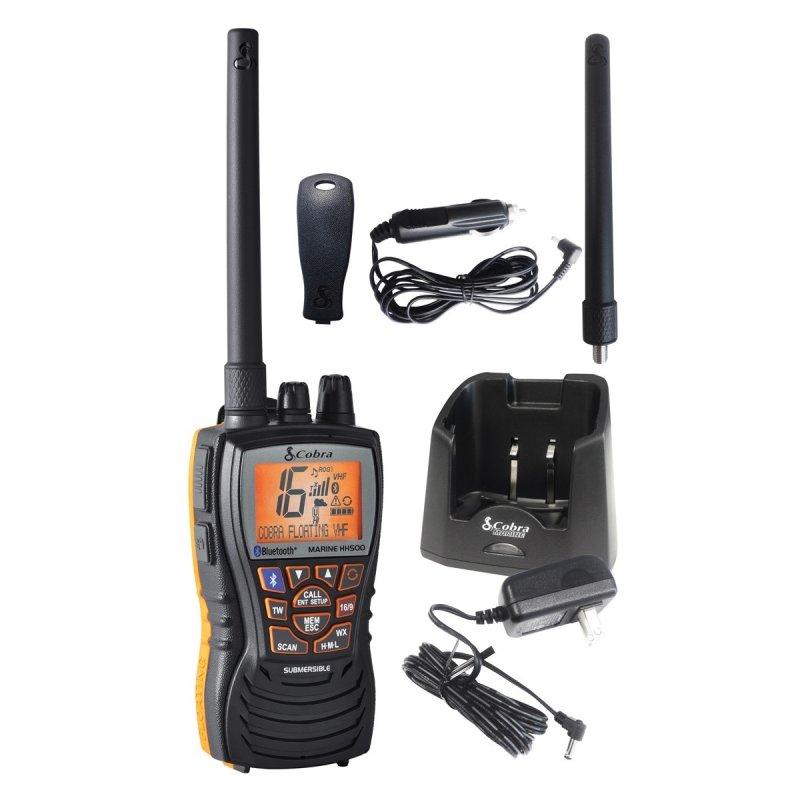 Cobra MR-HH500 FLT BT VHF Marine Φορητός πομποδέκτης, αδιάβροχος (IPX7), ισχύος 6 Watts με BlueTooth και λειτουργία 'Rewind-say again'.