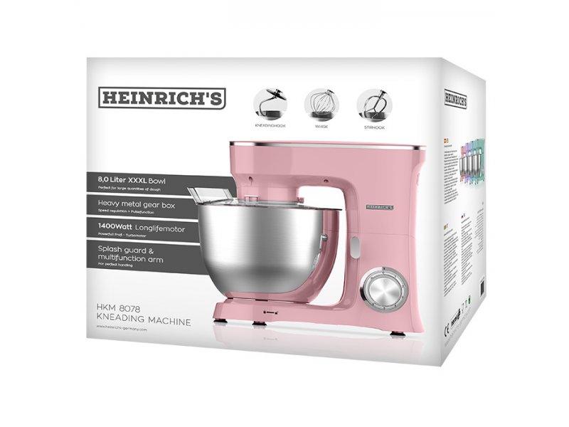 KM 8078 Heinrich's Κουζινομηχανή Με Κάδο Μίξης 8L Σε Μώβ Χρώμα 1400W