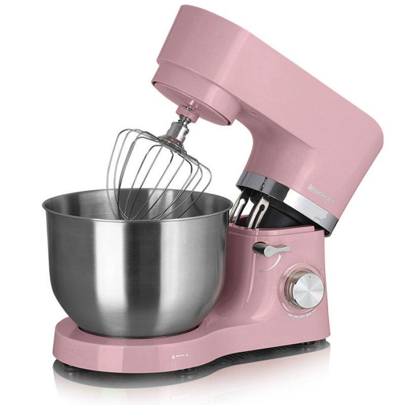 KM 6278 Heinrich's Κουζινομηχανή Με Κάδο Μίξης 6.5L, Σε Ρόζ Χρώμα, 1300W