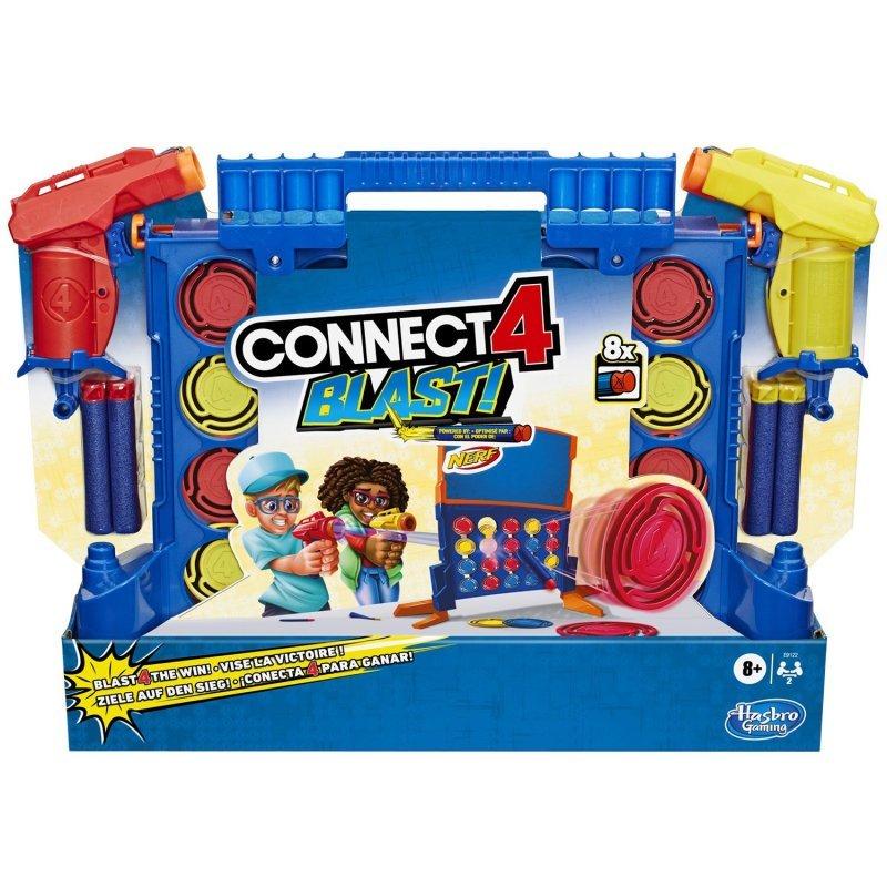 Hasbro Επιτραπέζιο Παιχνίδι Score 4 Nerf- Connect 4 Blast (E 9122)