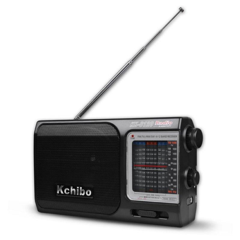Kchibo KK-8120 Φορητό Ραδιόφωνο FM/MW/SW Με Τροφοδοσία Ρεύματος Και Μπαταρίας