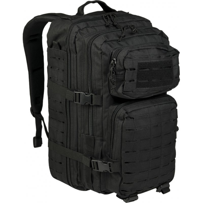 MIL-TEC Σακίδιο Πλάτης Μαύρο 36L US Black Laser Cut Assault Backpack LG 14002702