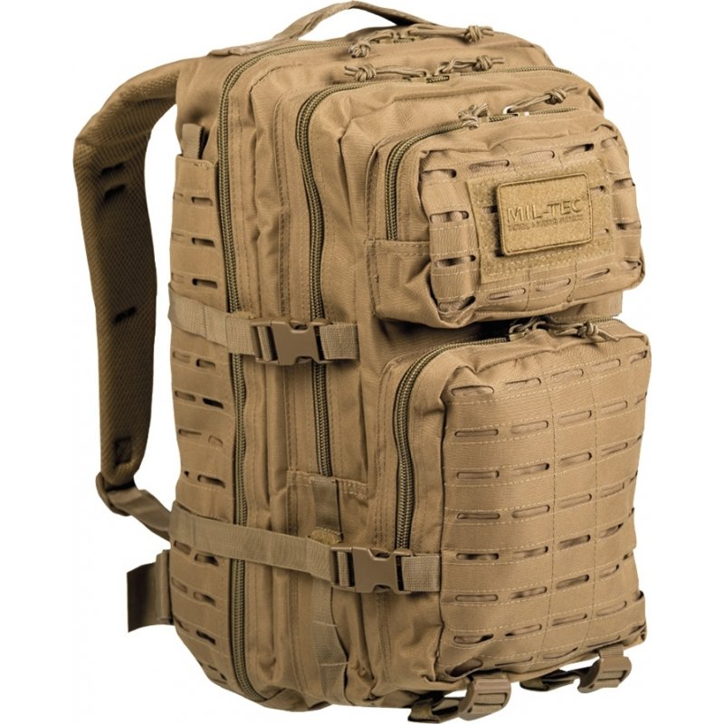 MIL-TEC Σακίδιο Πλάτης 36L US Coyote Laser Cut Assault Backpack LG 14002705