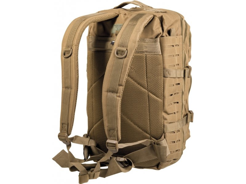 MIL-TEC Σακίδιο Πλάτης 36L US Coyote Laser Cut Assault Backpack LG 14002705