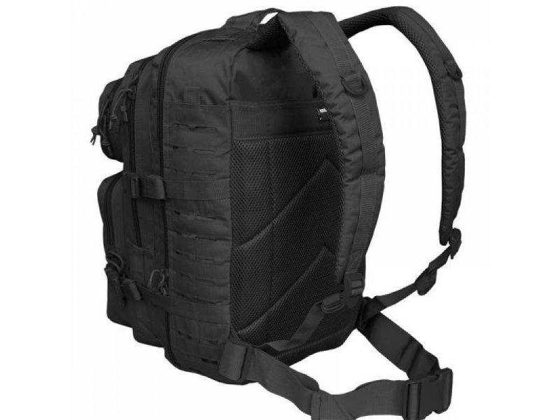 MIL-TEC Σακίδιο Πλάτης Μαύρο 20L US Black Laser Cut Assault Backpack Small 14002602