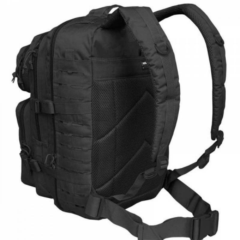 MIL-TEC Σακίδιο Πλάτης Μαύρο 20L US Black Laser Cut Assault Backpack Small 14002602