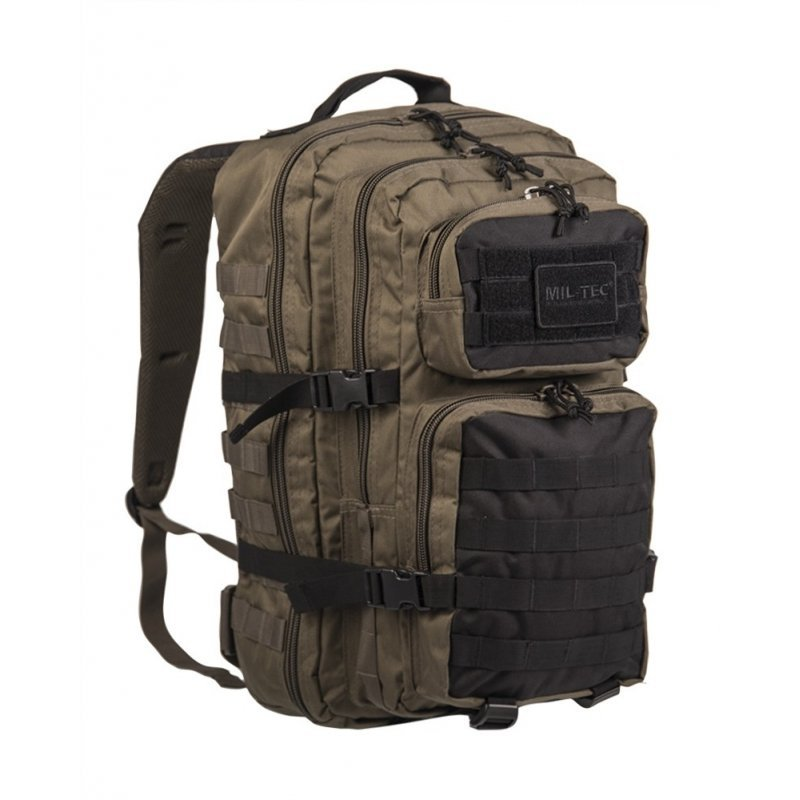 MIL-TEC Σακίδιο Πλάτης Χακί/Μαύρο 36L Ranger Green/Black BackPack US Assault L 14002301