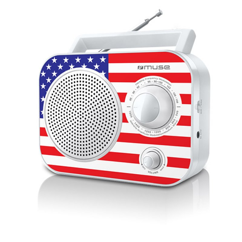 Αναλογικό ραδιόφωνο Muse M-60US FM-AM ρεύματος/μπαταρίας με υποδοχή Aux in