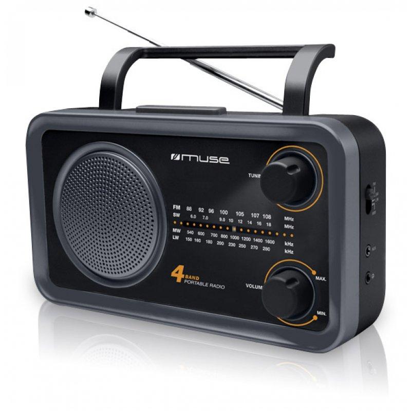 Αναλογικό ραδιόφωνο Muse M-05DS FM-AM ρεύματος/μπαταρίας με υποδοχή Aux in